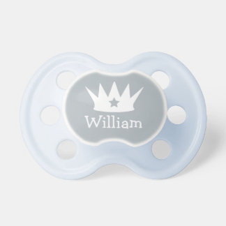 Little Prince | Custom Gray Baby Pacifier