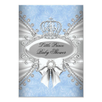 prince crown baby shower invitations  announcements  zazzle, Baby shower invitations