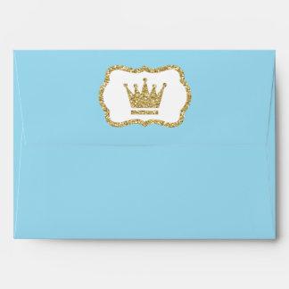 Little Prince Envelope, Baby Blue, Faux Glitter Envelope