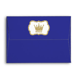 Little Prince Envelope, Royal Blue, Faux Glitter Envelope