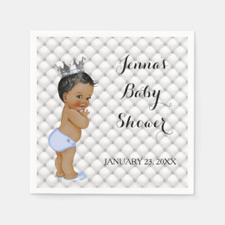 Little Prince Ethnic Baby Boy Diamonds Glam Paper Napkin