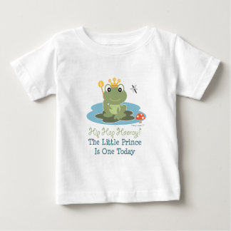 Little Prince Frog 1st Birthday Boy T shirt