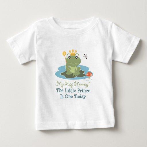 Little Prince Frog 1st Birthday Boy T shirt