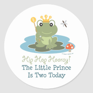 Little Prince Frog 2nd Birthday Stickers