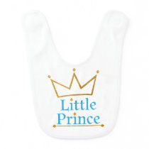 Little Prince Gold Crown Bib