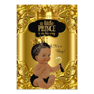 Little Prince is on his way Baby Shower Ethnic Card