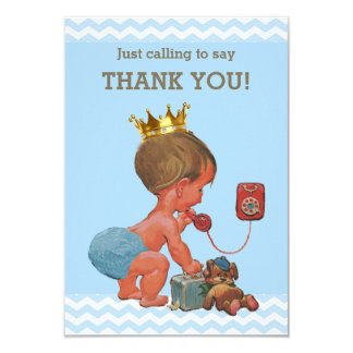 Little Prince on Phone Thank You Chevrons Card