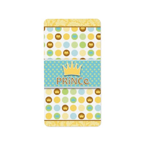 Little Prince Party Favor Stickers Personalized Address Label
