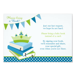 Little Prince Polka Dot Bunting Baby Shower Book Card