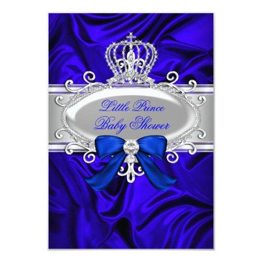 little prince royal blue baby shower invite zazzle