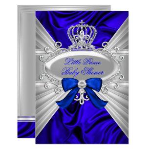 Royal baby shower invitations zazzle little prince royal blue boy baby shower invite filmwisefo
