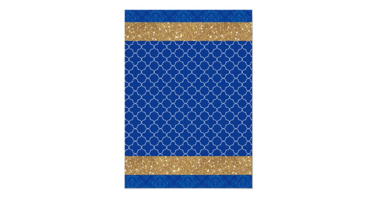 little prince royal blue gold baby shower card zazzle
