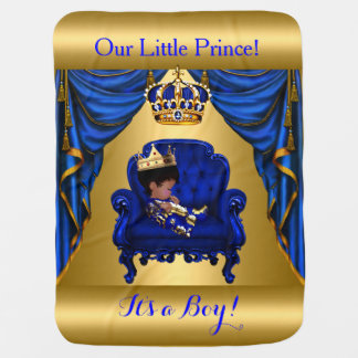 Little Prince Royal Blue Gold Blanket 2