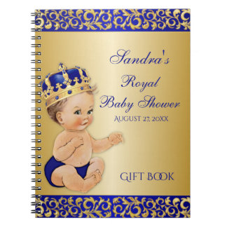 Little Prince Royal Blue Gold Gift Guest Notebook
