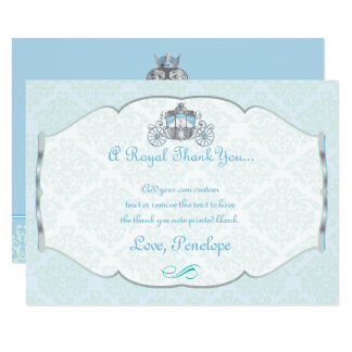 Little Prince, Victorian Style Thank You Cards