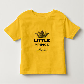 Little Prince with Vintage Crown V07B Yellow T-shirts