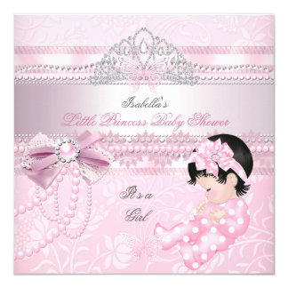 Little Princess Baby Shower Girl Butterfly CC Invitation