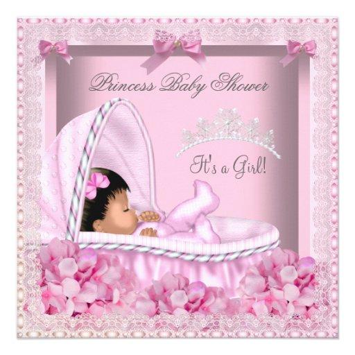 Little Princess Baby Shower Girl Lace AM Custom Invite