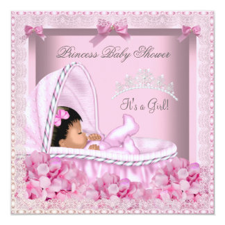Little Princess Baby Shower Girl Lace AM Custom Invite