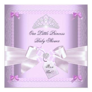 Little Princess Baby Shower Girl Lavender Card
