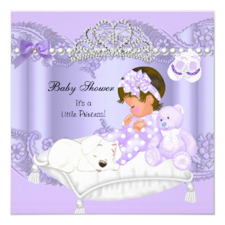 Little Princess Baby Shower Girl Lavender Purple Card