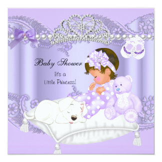 Little Princess Baby Shower Girl Lavender Purple Personalized Invitations