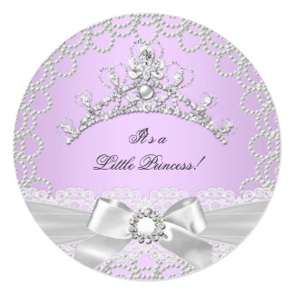 Little Princess Baby Shower Girl Lilac Pearl Invites