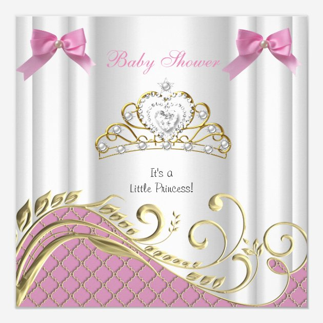Custom Pink Gold Baby Shower Invites Templates Babyfavors4u