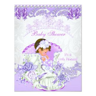 Little Princess Baby Shower Girl Purple Vintage 4.25x5.5 Paper Invitation Card