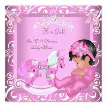 Little Princess Baby Shower Girl Rocking Horse 2 Card