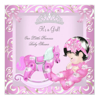 Little Princess Baby Shower Girl Rocking Horse 5 Card
