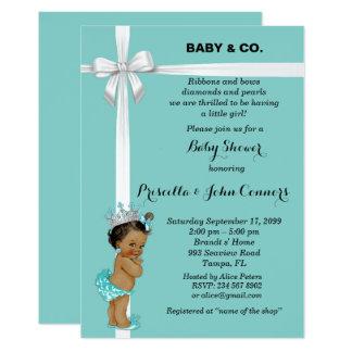 Little Princess Baby Shower Invitation,mint Card