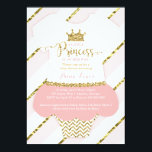 """Little Princess Baby Shower Invite, Faux Glitter Card<br><div class=""""desc"""">Invite attendees to your shower with this whimsical little princess themed baby shower invitation! The glitter and foil are embedded images and the design will print flat and without the texture of real glitter or foil. Matching items such as diaper raffle tickets, bring-a-book cards, thank you cards, and plates can...</div>"""