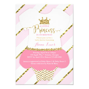 Princess baby shower invitations zazzle little princess baby shower invite faux glitter invitation filmwisefo