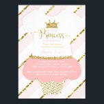 "Little Princess Baby Shower Invite, Faux Glitter Invitation<br><div class=""desc"">Invite attendees to your shower with this whimsical little princess themed baby shower invitation! The glitter and foil are embedded images and the design will print flat and without the texture of real glitter or foil. Matching items such as diaper raffle tickets, bring-a-book cards, thank you cards, and plates can...</div>"