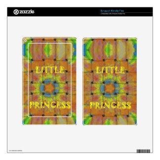 Little Princess Beautiful  colors Design Skin For Kindle Fire