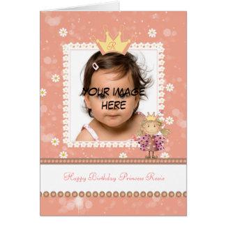 little princess birthday card - cute photo birthda