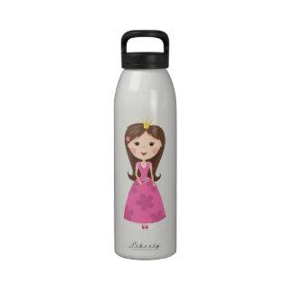 Little princess cartoon kids custom water bottle