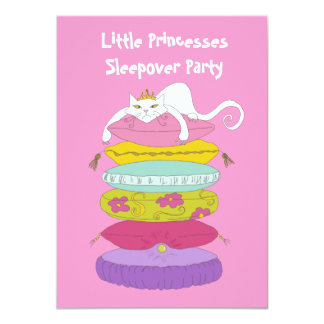 Little princess cat and pea birthday Invites