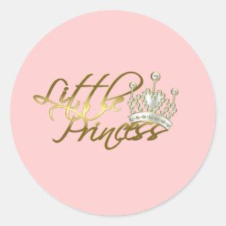 Little Princess Classic Round Sticker