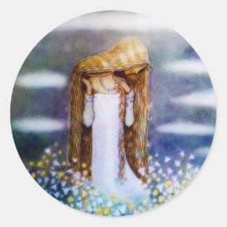 Little Princess Cottongrass Classic Round Sticker