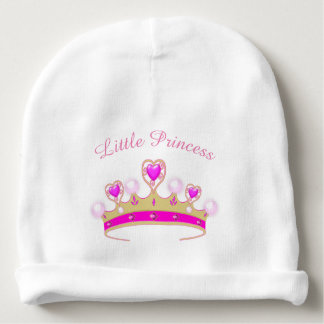 Little Princess crown baby girl beanie cap