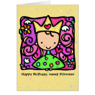Little Princess Custom birthday card