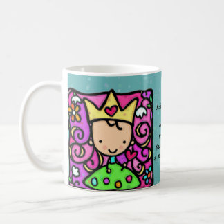Little princess Custom text Whimsical cup Classic White Coffee Mug