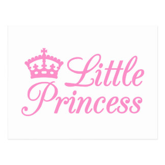 Little princess, design with pink crown for baby post cards