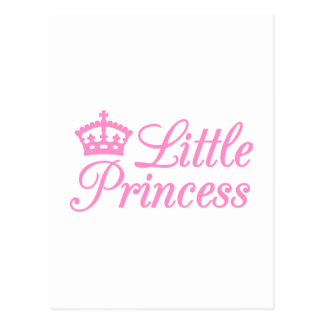 Little princess, design with pink crown for baby post card