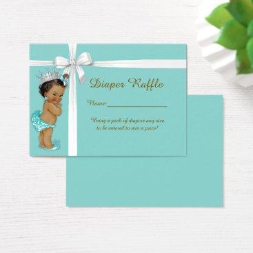 McTiffany Tiffany Aqua Little Princess Diaper Raffle Tickets,Tiffany mint Business Card