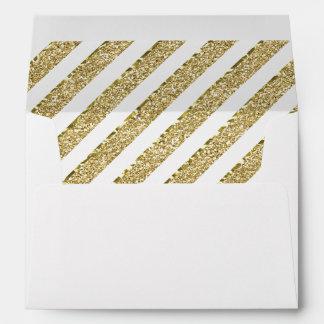 Little Princess Envelope, Faux Gold Glitter Envelope