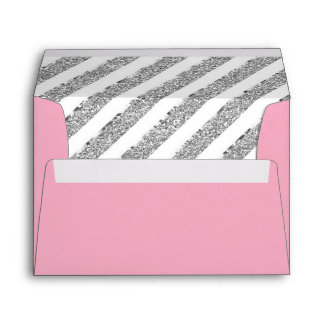 Little Princess Envelope, Faux Silver Glitter Envelope