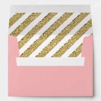 Little Princess Envelope, Pink, Gold Glitter Envelope